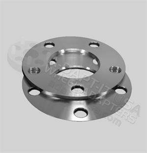 6x115 Lug flat wheel spacer, multiple thickness and hub centric available